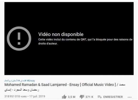 21a71833 4c2a 4b19 8f34 2e6f5a4a72f3 - يوتيوب يحذف أغنية «إنساي» بعد خلاف بين سعد لمجرد ومحمد رمضان