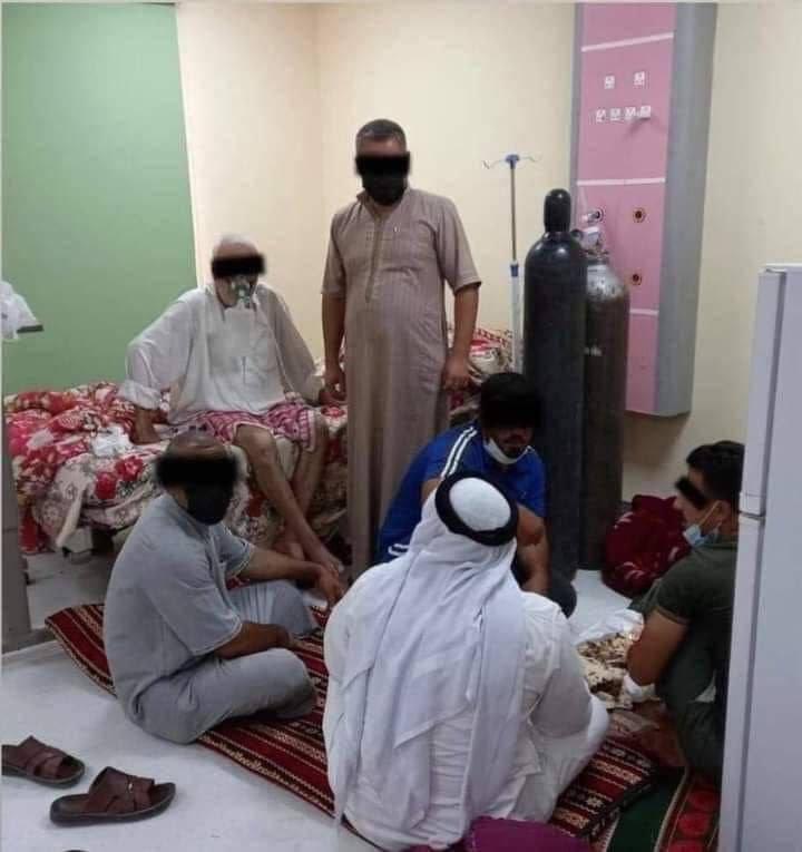 2 7 - شاهد مأدبة طعام بغرفة مصاب بكورونا داخل أحد المستشفيات