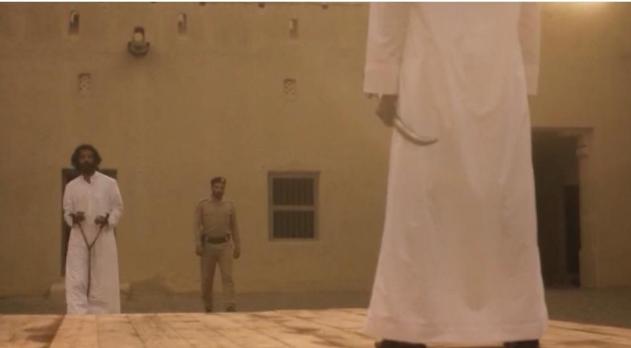 222 1 - شاهد لقطات مثيرة من حلقة رشاش الأخيرة ولحظة تنفيذ حد الحرابة بضرب عنقه بالسيف