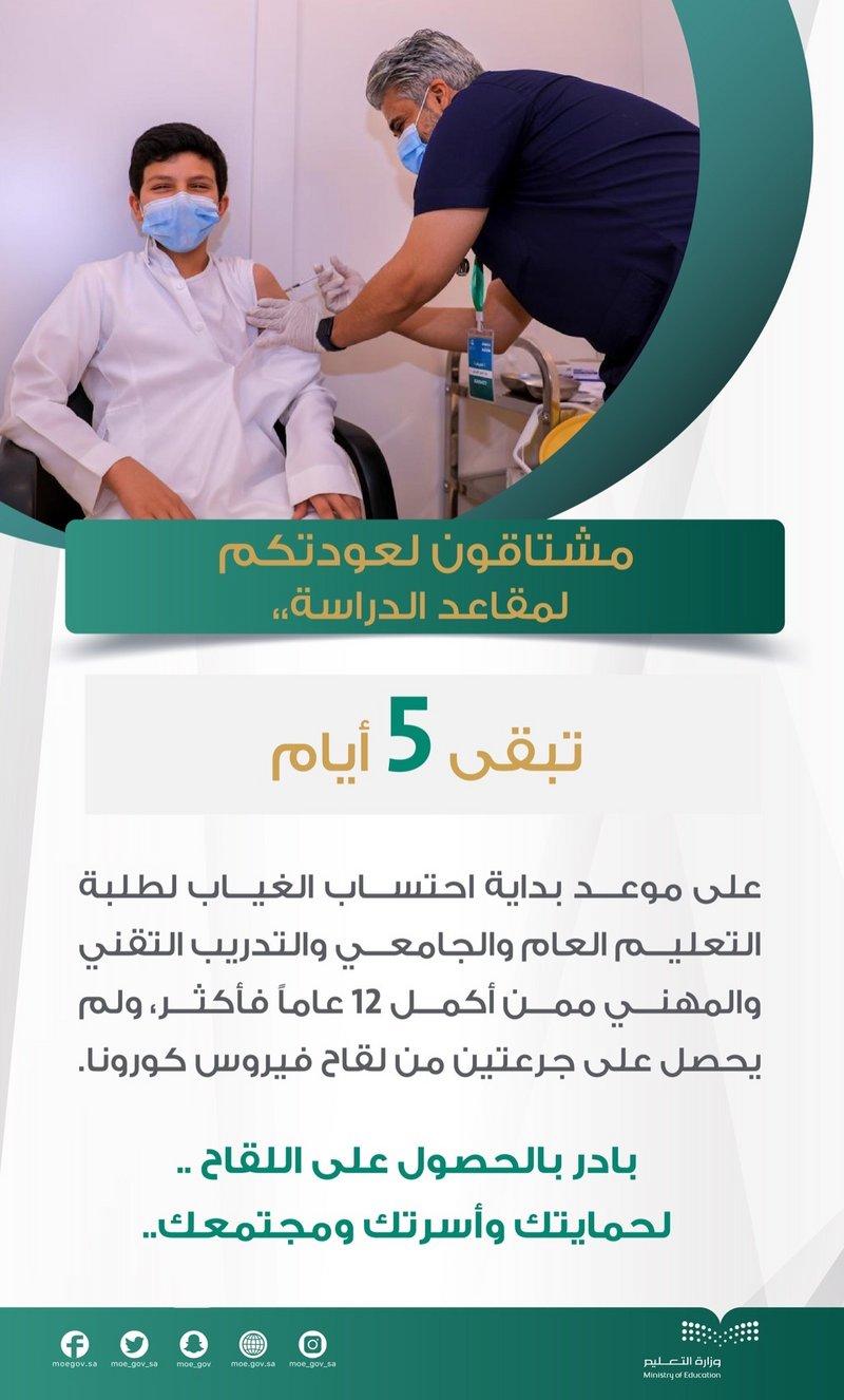 6137b66a13dd4 التعليم: 5 أيام باقية على بداية احتساب الغياب لطلبة التعليم العام والجامعي والتدريب التقني